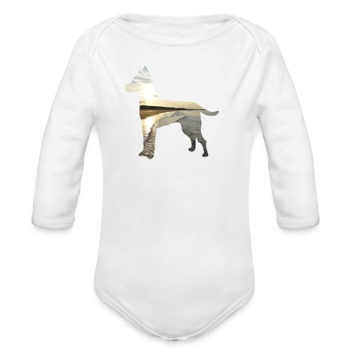 Hund-Nordsee - Baby Bio-Langarm-Body