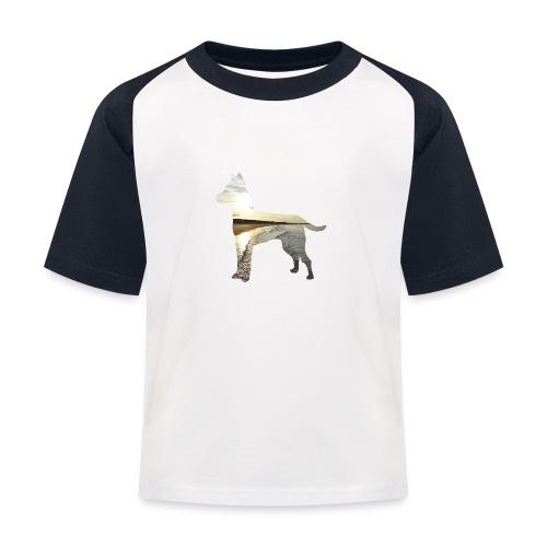 Hund-Nordsee - Kinder Baseball T-Shirt