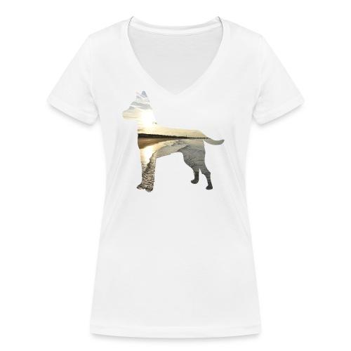 Hund-Nordsee - Frauen Bio-T-Shirt mit V-Ausschnitt von Stanley & Stella