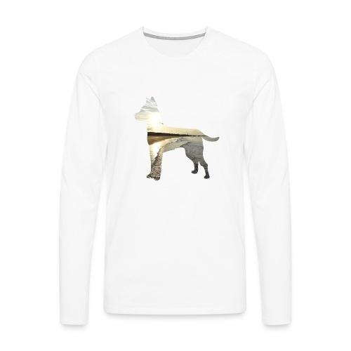 Hund-Nordsee - Männer Premium Langarmshirt