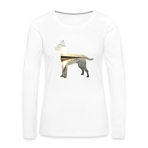 Hund-Nordsee - Frauen Premium Langarmshirt