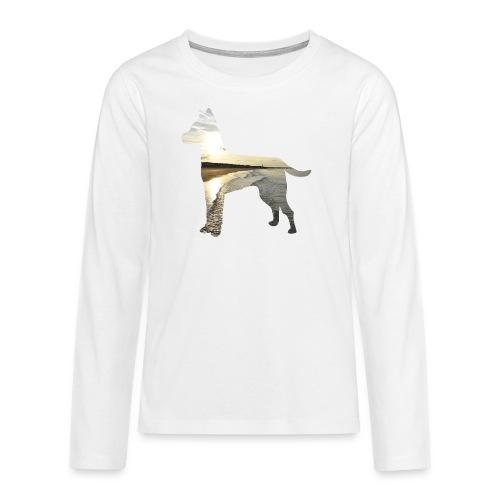 Hund-Nordsee - Teenager Premium Langarmshirt