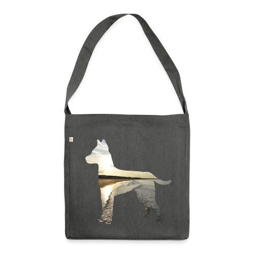 Hund-Nordsee - Schultertasche aus Recycling-Material