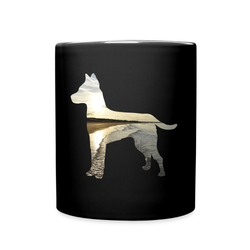Hund-Nordsee - Tasse einfarbig