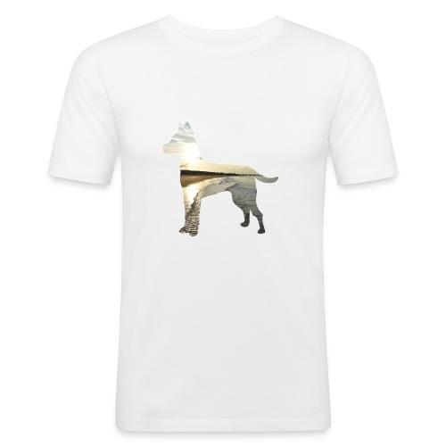 Hund-Nordsee - Männer Slim Fit T-Shirt