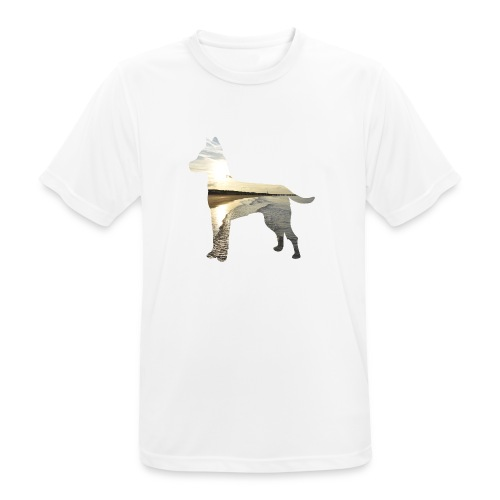 Hund-Nordsee - Männer T-Shirt atmungsaktiv