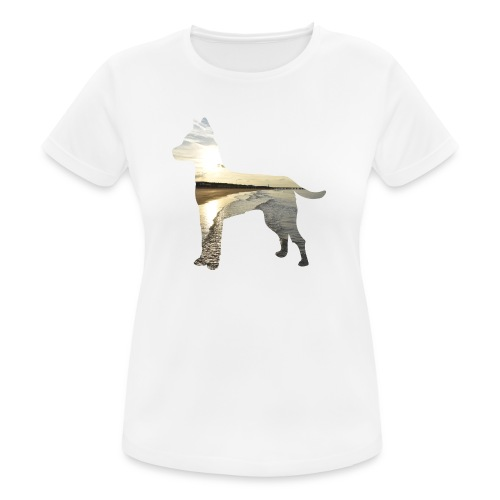 Hund-Nordsee - Frauen T-Shirt atmungsaktiv
