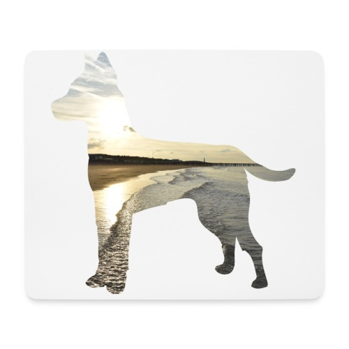 Hund-Nordsee - Mousepad (Querformat)