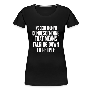 condescending means