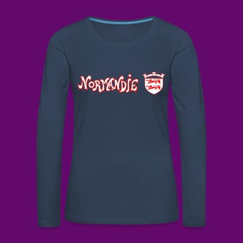 BLASON NORMANDIE - T-shirt manches longues Premium Femme