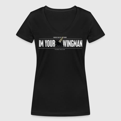 IM YOUR WINGMAN - Økologisk Stanley & Stella T-shirt med V-udskæring til damer