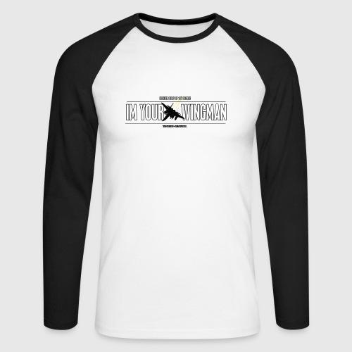 IM YOUR WINGMAN - Langærmet herre-baseballshirt