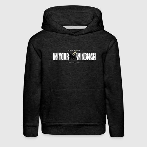 IM YOUR WINGMAN - Premium hættetrøje til børn