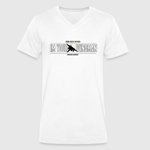 IM YOUR WINGMAN - Økologisk Stanley & Stella T-shirt med V-udskæring til herrer