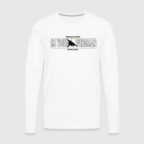 IM YOUR WINGMAN - Herre premium T-shirt med lange ærmer
