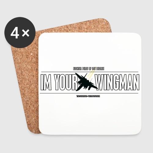 IM YOUR WINGMAN - Glasbrikker (sæt med 4 stk.)