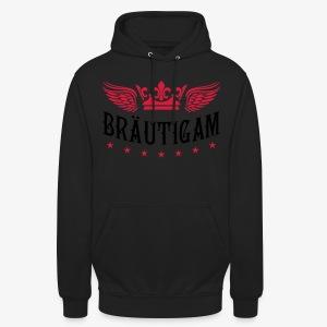 JGA Bräutigam Krone Flügel Sterne Elite Royal T-Shirt 80 - Unisex Hoodie