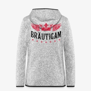 JGA Bräutigam Krone Flügel Sterne Elite Royal T-Shirt 80 - Frauen Kapuzen-Fleecejacke