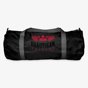 JGA Bräutigam Krone Flügel Sterne Elite Royal T-Shirt 80 - Sporttasche