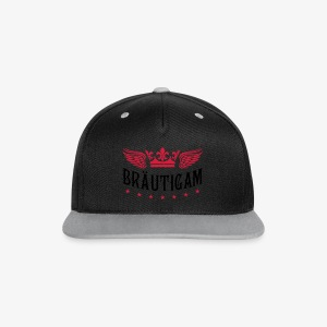 JGA Bräutigam Krone Flügel Sterne Elite Royal T-Shirt 80 - Kontrast Snapback Cap