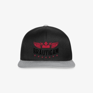 JGA Bräutigam Krone Flügel Sterne Elite Royal T-Shirt 80 - Snapback Cap