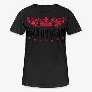 JGA Bräutigam Krone Flügel Sterne Elite Royal T-Shirt 80 - Frauen T-Shirt atmungsaktiv