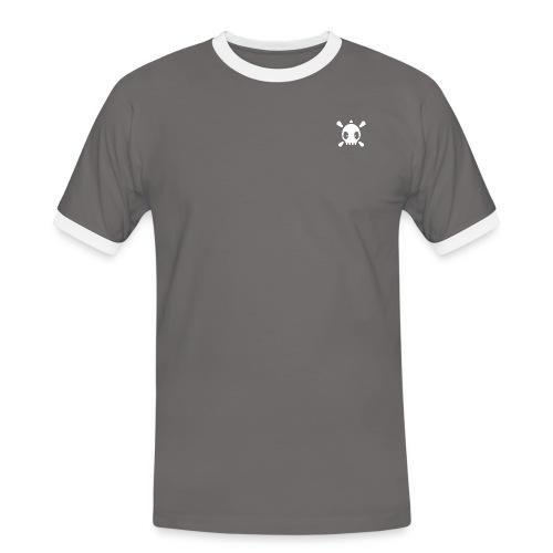 Henri the skull  - Männer Kontrast-T-Shirt