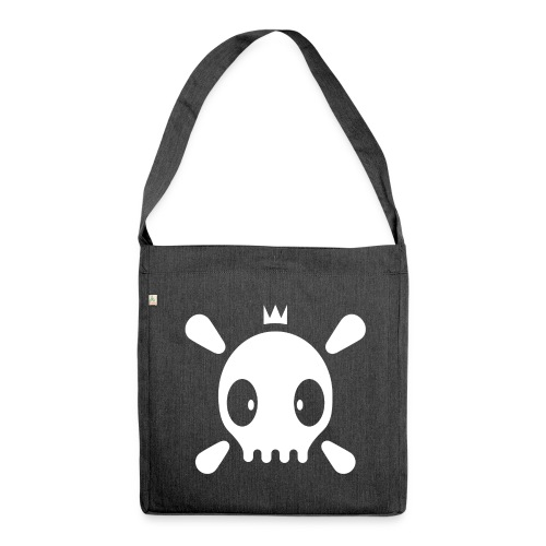 Henri the skull  - Schultertasche aus Recycling-Material