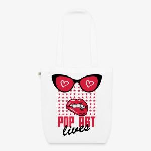 Lippen Mund Zähne POP ART LIVES Sunglasses Shirt - Bio-Stoffbeutel