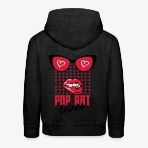 Lippen Mund Zähne POP ART LIVES Sunglasses Shirt - Kinder Premium Hoodie