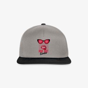 Lippen Mund Zähne POP ART LIVES Sunglasses Shirt - Snapback Cap