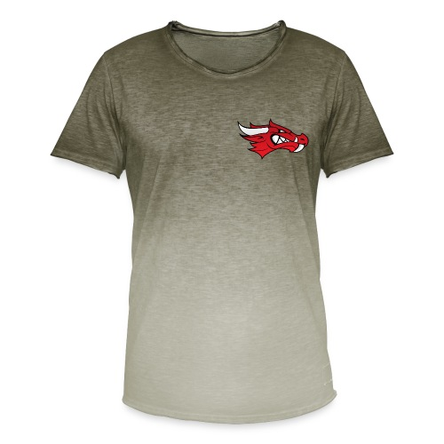 Small Dragon Logo - Men's T-Shirt with colour gradients