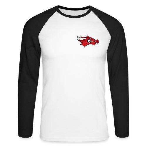 Small Dragon Logo - Men's Long Sleeve Baseball T-Shirt