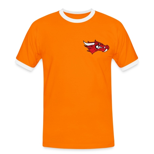 Small Dragon Logo - Men's Ringer Shirt