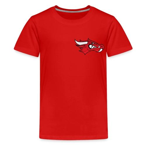 Small Dragon Logo - Teenage Premium T-Shirt