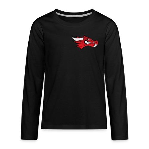 Small Dragon Logo - Teenagers' Premium Longsleeve Shirt