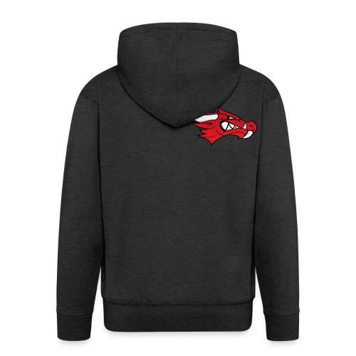 Small Dragon Logo - Men's Premium Hooded Jacket