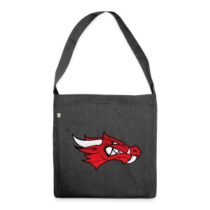 Small Dragon Logo - Shoulder Bag made from recycled material