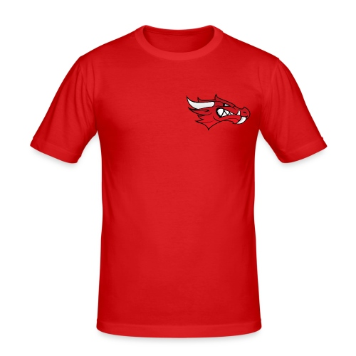 Small Dragon Logo - Men's Slim Fit T-Shirt