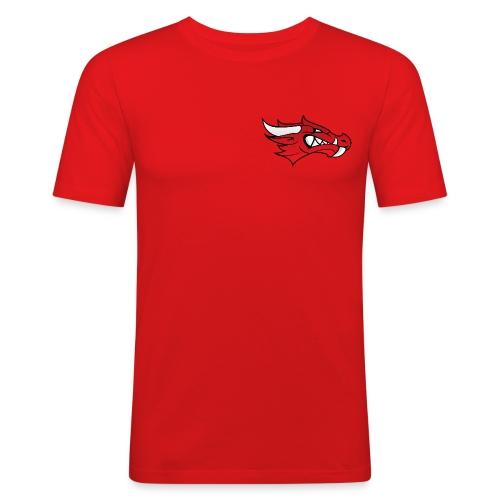 Small Dragon Logo - Men's Slim Fit T-Shirt