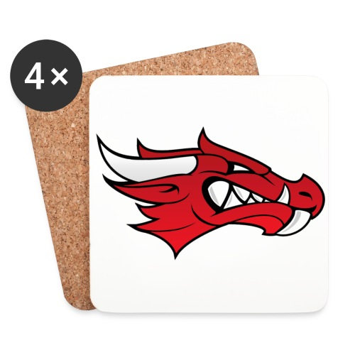 Small Dragon Logo - Coasters (set of 4)