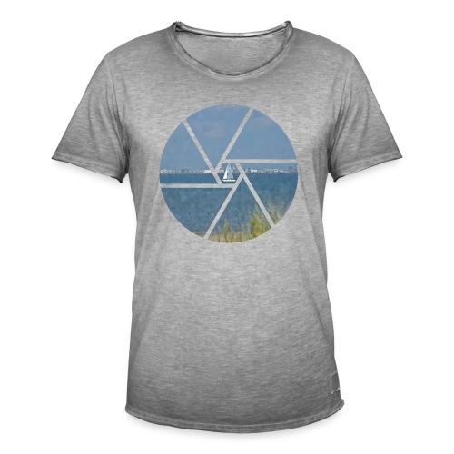 Segelboot im Focus - Männer Vintage T-Shirt