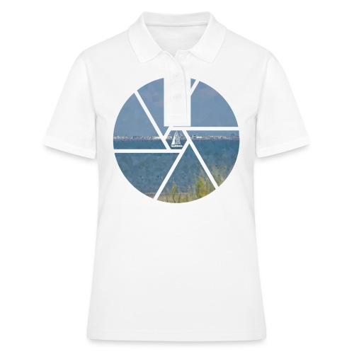 Segelboot im Focus - Frauen Polo Shirt