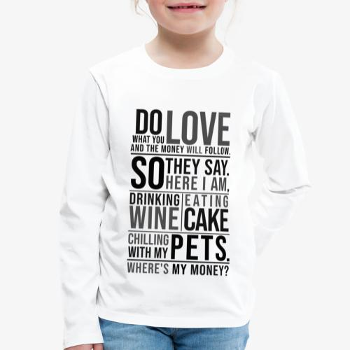 Lasten premium pitkähihainen t-paita