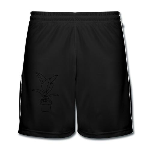 GUMMIBAUM Zimmerpflanze - Männer Fußball-Shorts