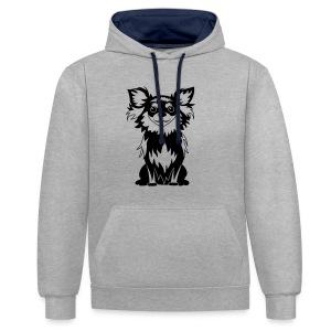 Chihuahua Glitter (zwart) - Contrast hoodie