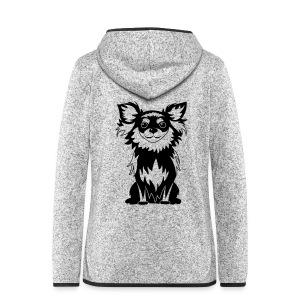 Chihuahua Glitter (zwart) - Vrouwen hoodie fleecejack