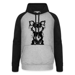 Chihuahua Glitter (zwart) - Unisex baseball hoodie