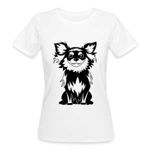 Chihuahua Glitter (zwart) - Vrouwen Bio-T-shirt