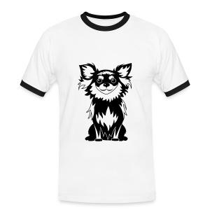Chihuahua Glitter (zwart) - Mannen contrastshirt